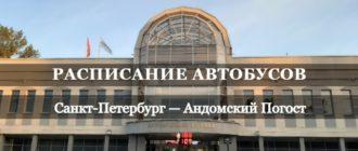 Автобус Санкт-Петербург - Андомский Погост